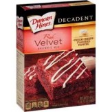 Duncan Hines Decadent Red Velvet Brownie Mix 498g Box
