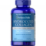 Puritans Pride Hydrolyzed Collagen 1000 mg180 Caplets,