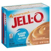Jell-O Instant Sugar-Free Fat-Free Butterscotch Pudding & Pie Filling, 28g Box