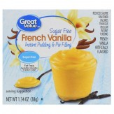 Great Value Instant Pudding & Pie Filling, Vanilla, Sugar Free, 38g
