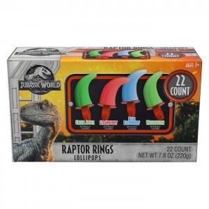 Jurassic World Raptor Ring pops 20ct |