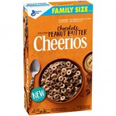 Cheerios Chocolate Peanut Butter Cereal Family Size 575g