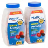 Equate Extra Strength Antacid Assorted Berries Chewable Tablets, 750 mg, 200 Count,