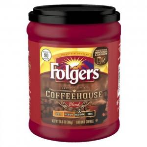 Folgers Coffee House Roast Ground Medium Dark Roast Coffee - 306g |